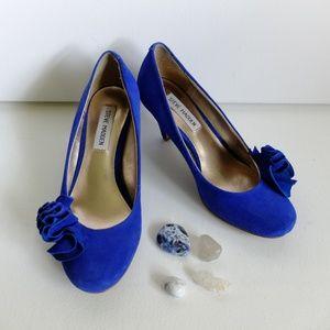 Steve Madden Blue Velvet Heels